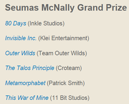 Seumas McNally Grand Prize